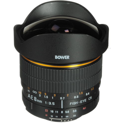 Lente Bower SLY 358C - 8mm f/3.5 para Canon
