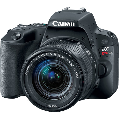 Canon EOS Rebel SL2 DSLR com lente 18-55mm